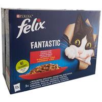 Felix Fantastic alutasakos macskaeledel – Házias válogatás aszpikban – Multipack (12 x 85 g)