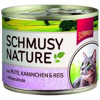 Schmusy Nature konzerv pulyka- és nyúlhússal