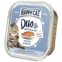 Happy Cat Duo tőkehalas és marhahúsos pástétom falatkák