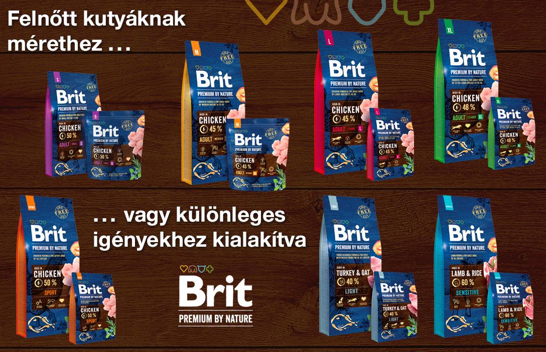 Brit Premium tápok felnőtt korú kutyáknak