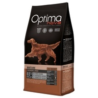 Visán Optimanova Dog Mature Adult Chicken & Rice táp idős, idősödő kutyáknak