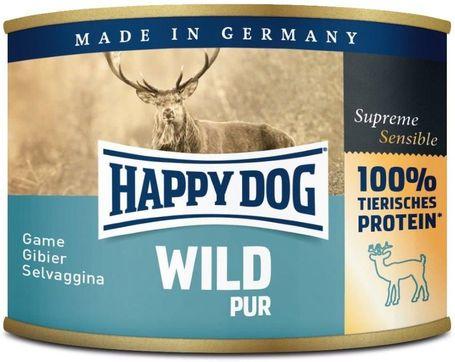 Happy Dog Wild Pur - Tiszta vadhúsos konzerv   Egyetlen fehérjeforrás