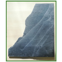 Fekete palakő lap - Akváriumi díszkő (3 kg)