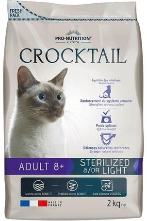 Flatazor Crocktail Adult 8+ Sterilised &/or Light | Száraztáp ivartalanított idős macskák részére