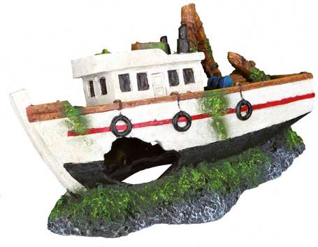 Trixie halászhajó roncs akváriumdekor