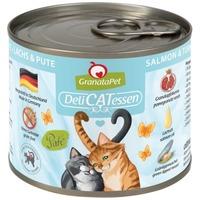 GranataPet DeliCatessen lazacos és pulykahúsos konzerv macskáknak