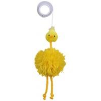 Trixie sárga plüss csirke gumi kötélen