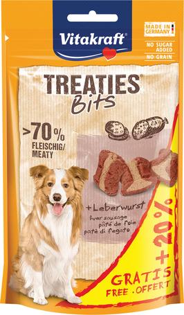 Vitakraft Treaties Bits puha jutifalatkák májjal kutyáknak (+20% extra töltősúllyal)