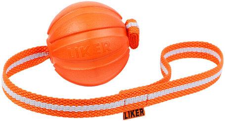 Liker narancssárga fényvisszaverő szalagos labda kutyáknak