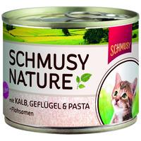 Schmusy Nature Kitten konzerv borjú- és baromfihússal kölyökmacskáknak