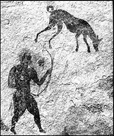Őskori barlangfestmény az ember és a kutya korai kapcsolatáról