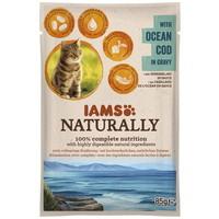 IAMS Naturally Cat – Tőkehal falatok szószban