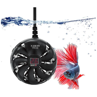 Circular X-338 digitális mini akvárium fűtő kis akváriumokba, víziteknős terráriumokba