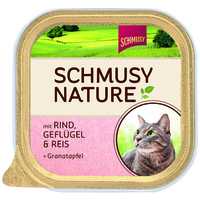 Schmusy Nature alutálkás macskeledel marha- és baromfihússal