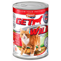 Panzi GetWild Cat Adult Beef & Apple konzerv
