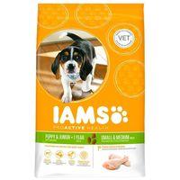 IAMS Dog Puppy & Junior Small & Medium Chicken kölyök- és növendéktáp | Közepes testméretű kutyáknak