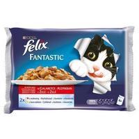 Felix Fantastic aszpikos eledel marhával és csirkével macskáknak - Multipack (4 x 100 g)