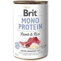 Brit Mono Protein Lamb & Brown Rice   Hipoallergén konzerves kutyatáp bárányhússal és barnarizzsel
