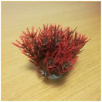 Sűrű vöröses-zöldes levélzetű akváriumi palás műnövény