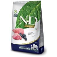 N&D Dog Prime Adult Medium & Maxi Lamb & Blueberry | Száraztáp közepes testméretű kutyáknak bárányhússal és vörös áfonyával