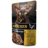 Leonardo csirkehús extra tépett marhahússal alutasakos macskaeledel