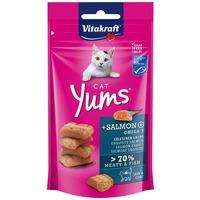 Vitakraft Cat Yums extra puha jutalomfalat lazaccal és Omega 3-mal macskáknak
