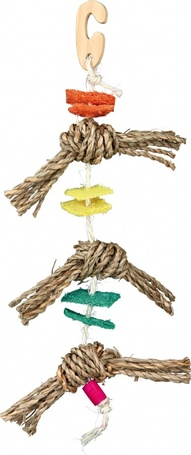 Trixie kötél tengeri fűvel, lyuffával és faelemmel kisebb madaraknak