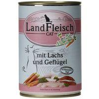 LandFleisch Cat baromfis és lazacfilés alutálkás macskaeledel