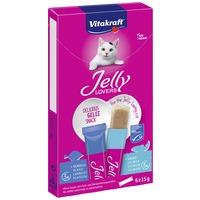 Vitakraft Jelly Lovers zselés jutalomfalat macskáknak lazacos és lepényhalas
