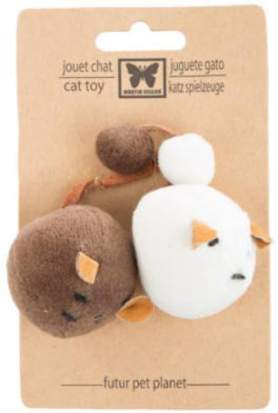 Martin Sellier 100% természetes anyagokból készült öko macskajáték (2 db 4 cm-es pompom / csomag)