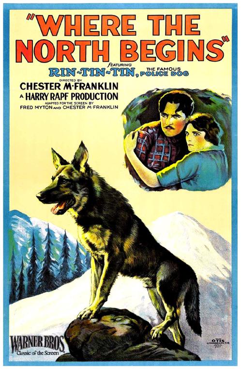 A Where the North Begins film plakátja Rinty-vel