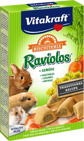 Vitakraft Biscuiteria Raviolos zöldséggel töltött keksz rágcsálóknak