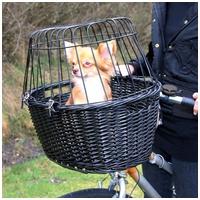 Trixie fonott szállítókosár kerékpárra kutyáknak