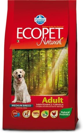 Ecopet Natural Adult Medium - Száraztáp közepes testméretű felnőtt kutyáknak