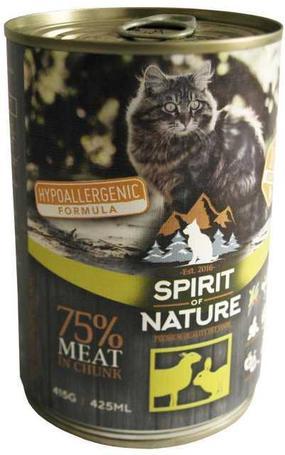 Spirit of Nature Cat bárány- és nyúlhúsos konzerv macskák részére | Hipoallergén