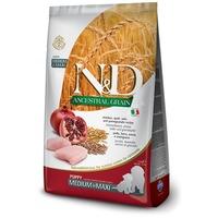 N&D Dog Puppy Medium & Maxi Chicken & Pomegranate Ancestral Grain | Eledel közepes és nagytestű kölyökkutyák számára