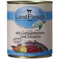 LandFleisch Dog baromfiszíves és lazacos konzerv