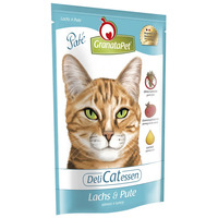 GranataPet DeliCatessen lazacos és pulykás macskaeledel alutasakban