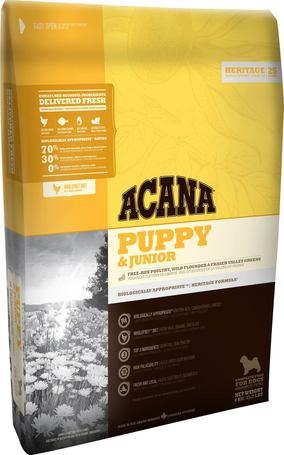 Acana Puppy & Junior száraztáp közepes testméretű kölyökkutyáknak