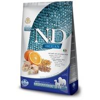 N&D Dog Ocean Adult Medium & Maxi Codfish & Orange   Tőkehalas és narancsos kutyaeledel