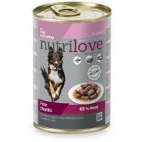 Nutrilove Dog szószos borjú- és pulykahús konzervben
