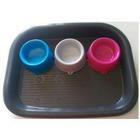 Georplast Trio színes etetőtálkák tálcával