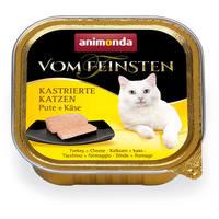 Animonda Vom Feinsten ivartalanított macskáknak – Pulykahúsos és sajtos eledel