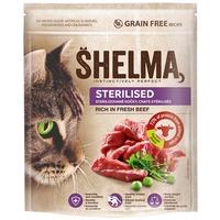 Shelma Adult Sterilised friss marhahúsból készült száraz macskatáp