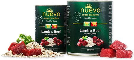 Nuevo Dog Senior Lamb & Beef konzerves eledel bárány- és marhahússal idős kutyáknak