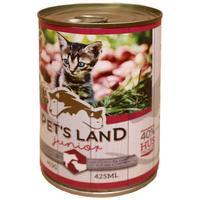 Pet's Land Cat Junior konzerv marhamájjal, bárányhússal és almával