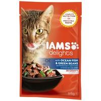 IAMS Cat Delights – Tengeri hal és zöldbab szószban