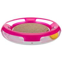 Trixie Race & Scratch - Kapd el a labdát cicajáték kaparókartonnal