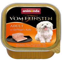 Animonda Vom Feinsten Adult – Szárnyas- és borjúhúsos kutyaeledel