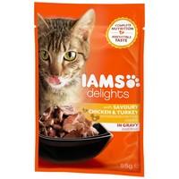 IAMS Cat Delights – Csirke- és pulykahús szószban